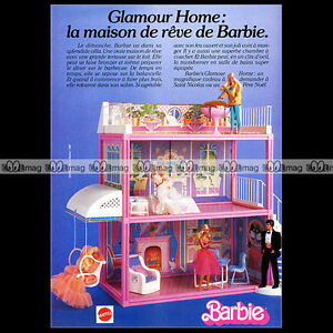 mattel vintage barbie glamour home maison de r ve 1985 pub publicit ad a167 ebay. Black Bedroom Furniture Sets. Home Design Ideas