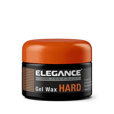 Elegance Barber Stylist Hair Gel Wax Hard w/ Argan Oil 3.3oz -NEW FACTORY SEALED for sale  Shipping to India