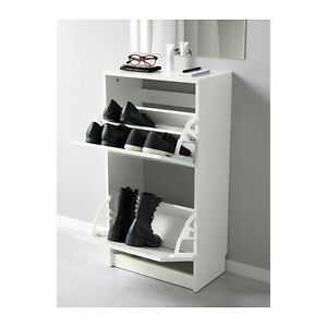 IKEA BISSA 2 Drawer Shoe Cabinet