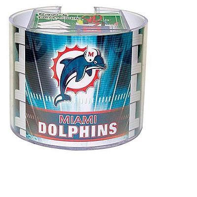 (Miami Dolphins Team Logo Desk Caddy with 750 Sheet Note Pad)