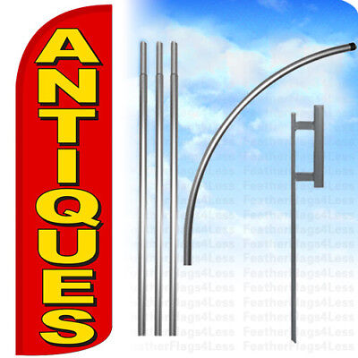 Antiques - Windless Swooper Flag 15 Kit Feather Banner Sign - Rq