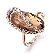 18K Rose Gold GP Swarovski Crystal