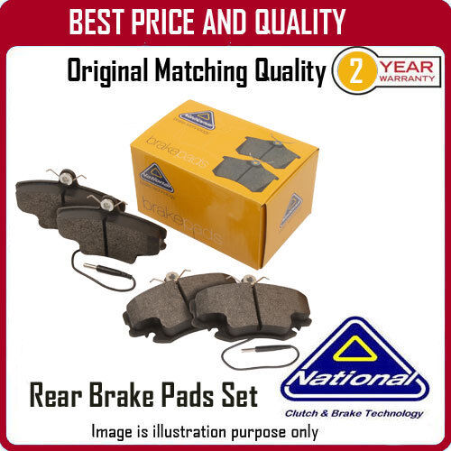 NP2290 NATIONAL REAR BRAKE PADS  FOR FIAT SCUDO