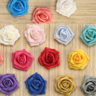 Foam Flowers (12 Small Foam Rose Heads Artificial Flowers Roses Wedding Embellishment)