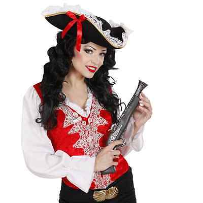 TRICORNO IN PIZZO CAPPELLO ACCESSORIO COSTUME CARNEVALE DONNA PIRATA CORSARA