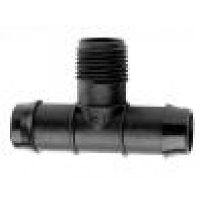 10x Antelco POLY TEE Barb & BSP Male Thread-19x20mm, 25x15mm, 25x20mm Or 25x25mm ()