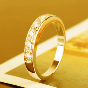 Ladies 10K gold filled wedding band ring Size 9 - new
