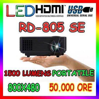 PROIETTORE RD-805 Videoproiettore 1500 Lumens Led USB HDMI 1080P Home Cinema
