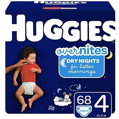 Huggies Overnites Nighttime Diapers, Size 4, 68 Ct (Size 4 (68 Count))