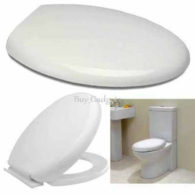 LUXURY SOFT CLOSE WHITE OVAL TOILET SEAT | ELEGANT DESIGN BOTTOM FIXING | NEW