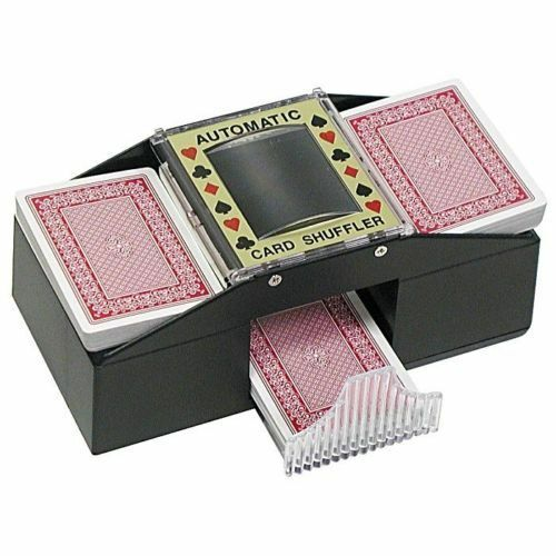 Casino Deluxe Automatic 2 Deck Card Shuffler Poker Texas Hold'em Black Jack NEW