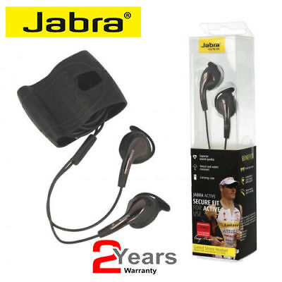 Jabra Active Corded Sports In-Ear Headphones with Mic/Remote – Black Jabra In Ear Microphone
