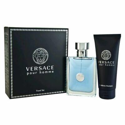 Versace Pour Homme 2pc Gift Set Cologne for Men 3.4 oz + Shampoo 3.4 oz