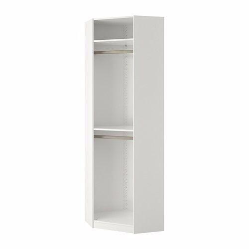 Ikea Pax Corner Wardrobe White Mirror Door In