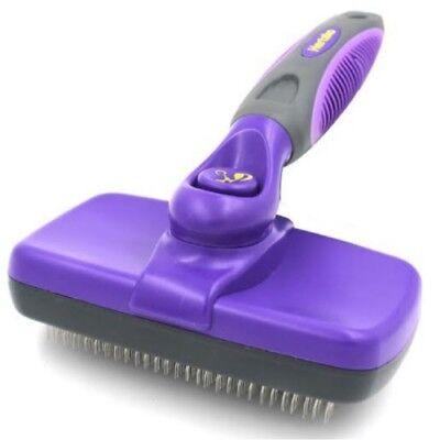 Hertzko Self Cleaning Slicker Brush Pet Hair Remover Shedder Sheds Dog Cat