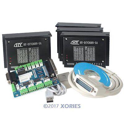 4 Axis CNC Kit For Nema17 Nema23 Nema34 Motor 4 * TB6600HG Stepper Driver 5A