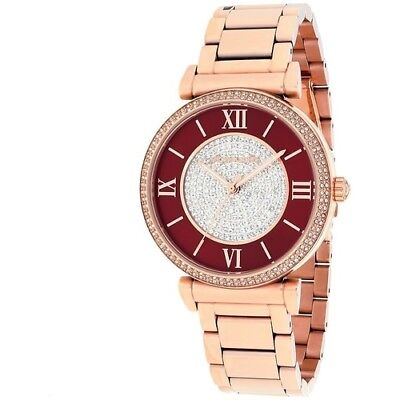 Michael Kors Women's MK3377 Caitlin Red Crystal Pave Rose gold Plated Watch