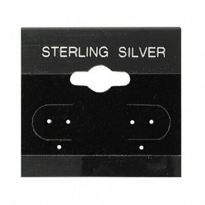 200 Jewelry Earring Display Cards Sterling Silver Black Flocked  1.5 X 1.5