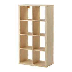 Ikea Kallax 8 Square 2x4 Birch