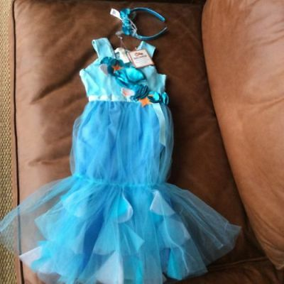 NWT POTTERY BARN KIDS BLUE MERMAID HALLOWEEN COSTUME W/TREAT BAG SIZES 2T-3T 2-3 - Mermaid Costume 2t