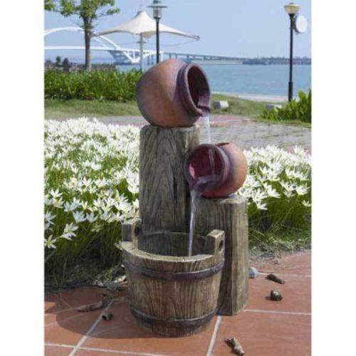 Kaskadenbrunnen garten terrasse ebay for Wasserbrunnen garten