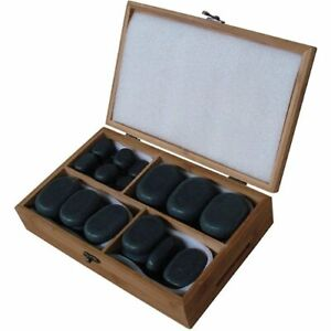 Brand New Basalt Lava Hot Stones - Set of 52 Assorted Stones