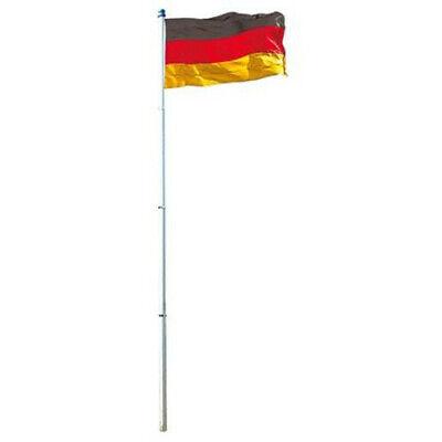 Germany Flag 150x90cm with Alu Mast 6m Flagstaff Flag Flag Football