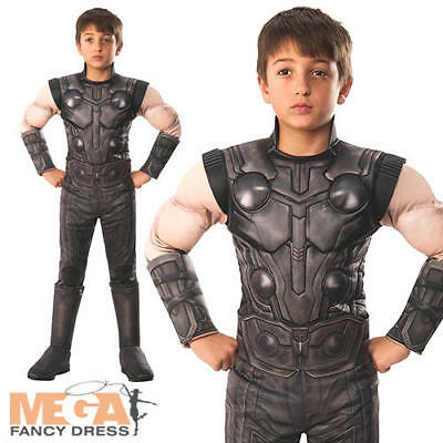 Deluxe Infinity War Thor Boys Fancy Dress Avengers Superhero Childrens Costume](Thor Costumes For Girls)