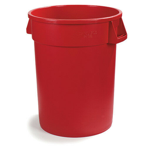 Carlisle 341044 Bronco Round Waste Container - 44 Gallon Capacity, Red