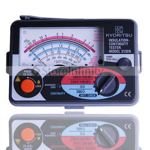 NEW Kyoritsu Insulation Tester Meter Fuse Protected Japan 3132A