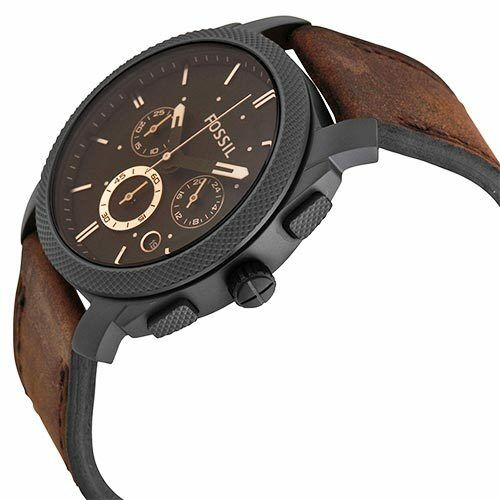 Fossil Men's Machine FS4656 Brown Leather Analog Quartz Fash