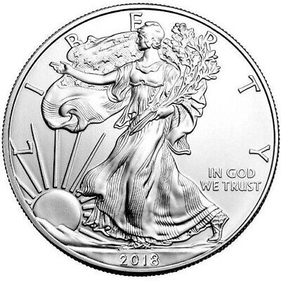 Roll OF 20 2018 $1 American silver eagles uncirculated in mint tube
