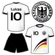 Deutschland Trikot 86