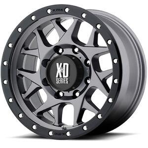 17x9 Gray XD127 5x5 -12 Nitto Trail Grappler 285/75R17 Rims Tires