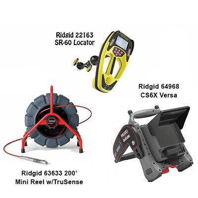 Ridgid 200 Mini Reel 63633 Seektech Sr-60 Locator 22163 Cs6x Versa 64968