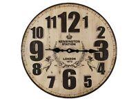 Large Wall Clock - Kensington Station Style