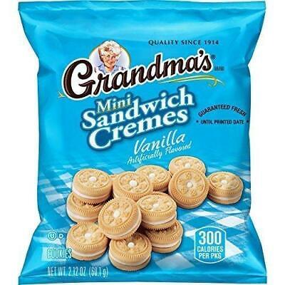 Vanilla Creme Cookies (Grandma's Sandwich Cookies, Vanilla Creme Minis, 2.12 Ounce (Pack of 60), 60... )