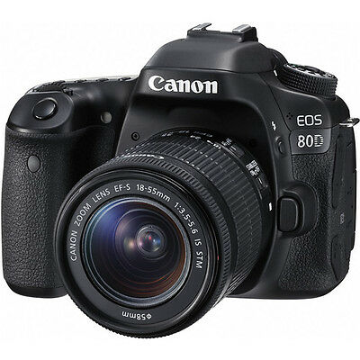 Canon EOS 80D Digital SLR Camera w/18-55mm Lens