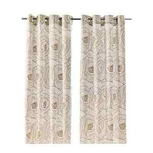 Curtains brown taupe and white