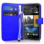 Bookwallet hoes HTC Desire 500 blauw