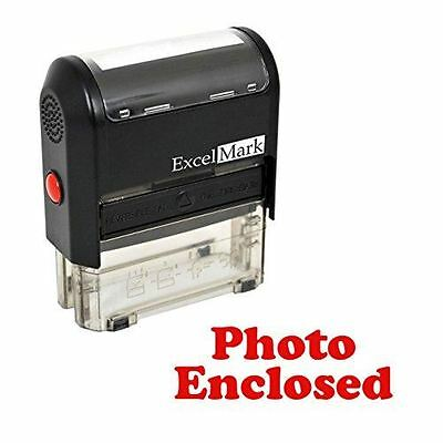 New Excelmark Photo Enclosed Self Inking Rubber Stamp A1539 Red Ink