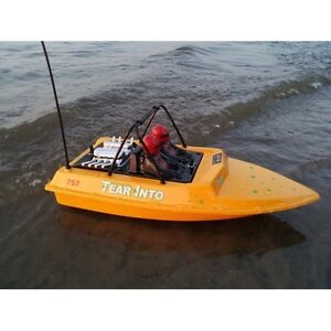 NQD Tear Into RC Jet Boat Yellow