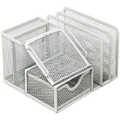 EasyPAG Mesh Desk Organizer 5 Compartments and 1 Slide -