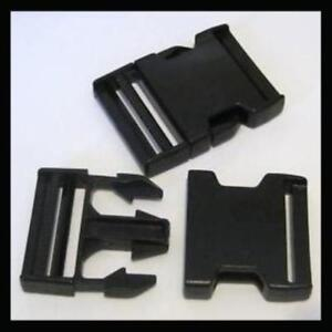 2X DELRIN CLIPS FOR LUGGAGE STRAP BELT PLASTIC SNAP CLICK BUCKLE FASTENER CLASP