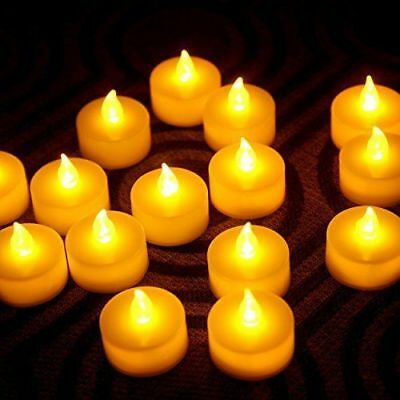 Flameless LED Tealight Candles Tea Light Candle 24pcs Battery-powered LCL24 US](Battery Tealight)