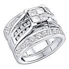 14k Diamond and Gemstone Engagement & Wedding Ring Sets