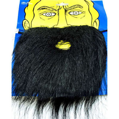 Adult Fake Facial Hair Black Beard And Moustache Mustache Costume Accessory - Fake Moustache And Beard