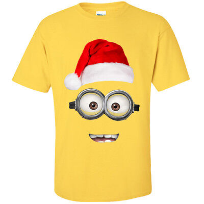 Christmas Minion T-Shirt - Despicable Me Xmas - Adults & Kids Sizes - - Adult Minion Shirt
