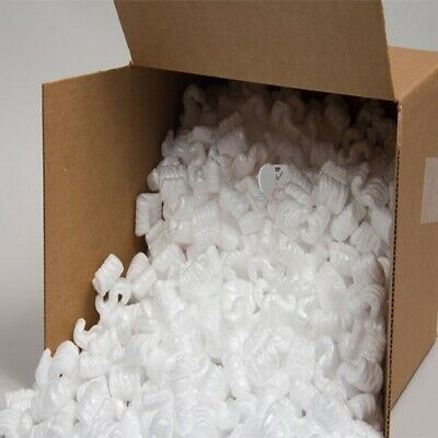 POLYSTYRENE S SHAPED LOOSE FILL/ PACKING PEANUTS/ VOID FILL BOXED 2.5+ Cubic ft