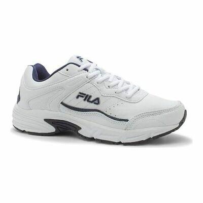 Fila Men's   Memory Sportland Running Shoe White/Fila Navy/Metallic Silver Size